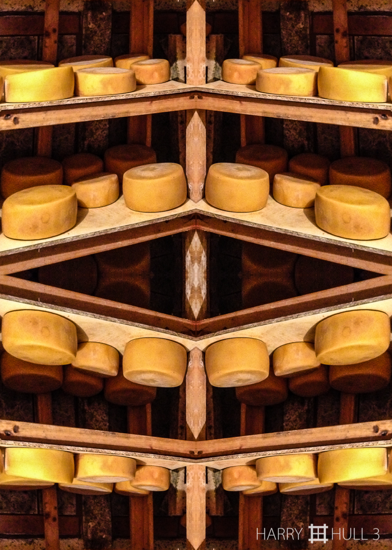 Cheese in waiting. iPhone photo of aging room for cheese wheels, Quesos Pacheco, Copey de Dota, Costa Rica.