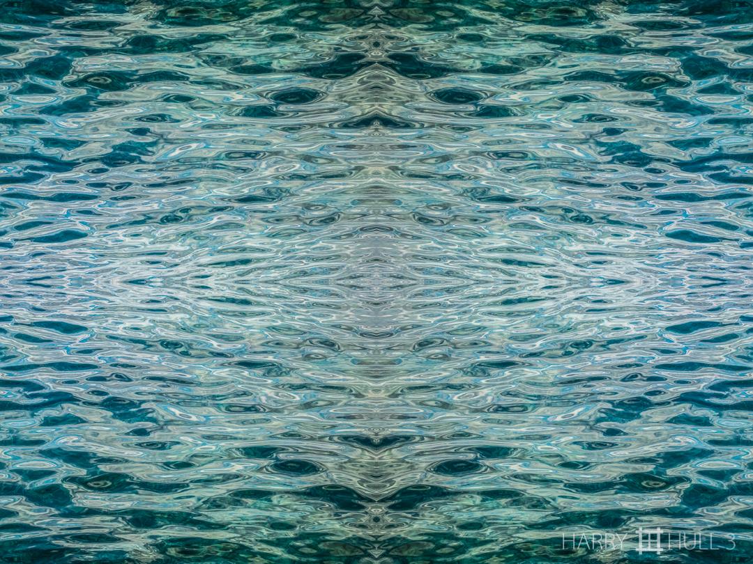 Aquatic pattern: Caribbean. Photo of ocean surface near shore, Ambergris Caye, Belize.