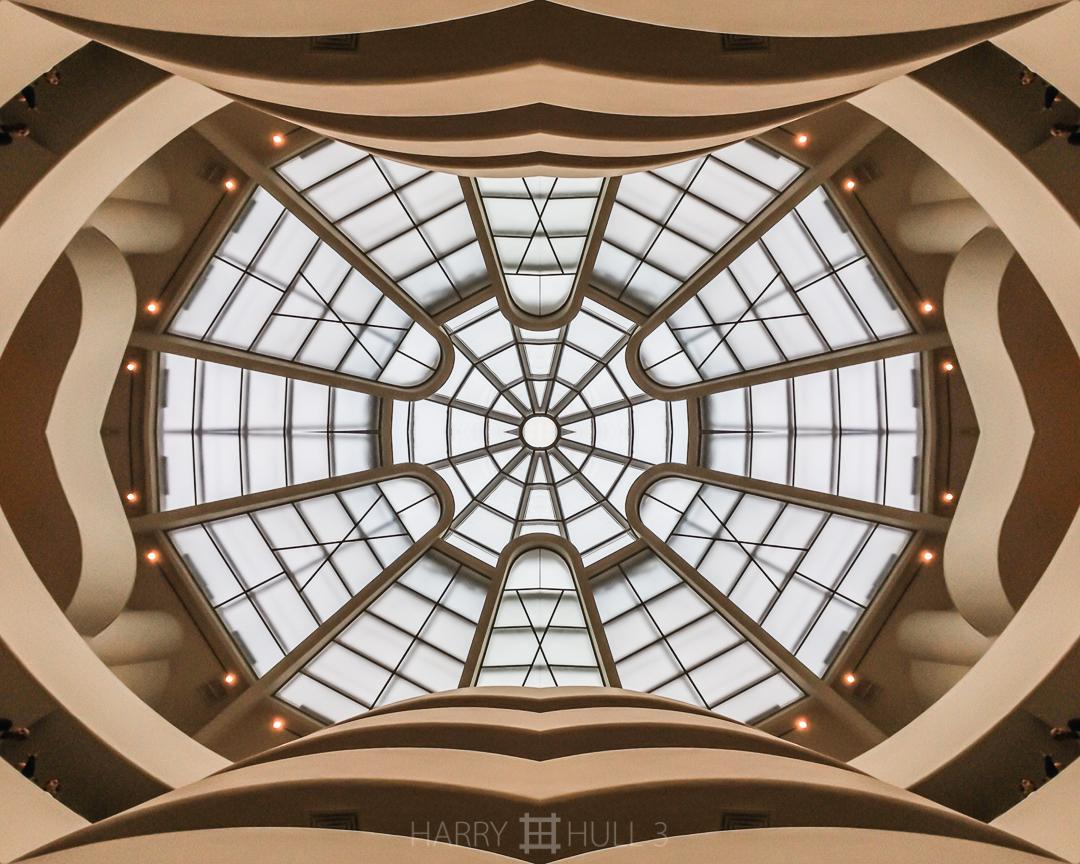 Iconic atrium. iPhone photo of skylight and interior atrium of Solomon R. Guggenheim Museum, New York, New York.