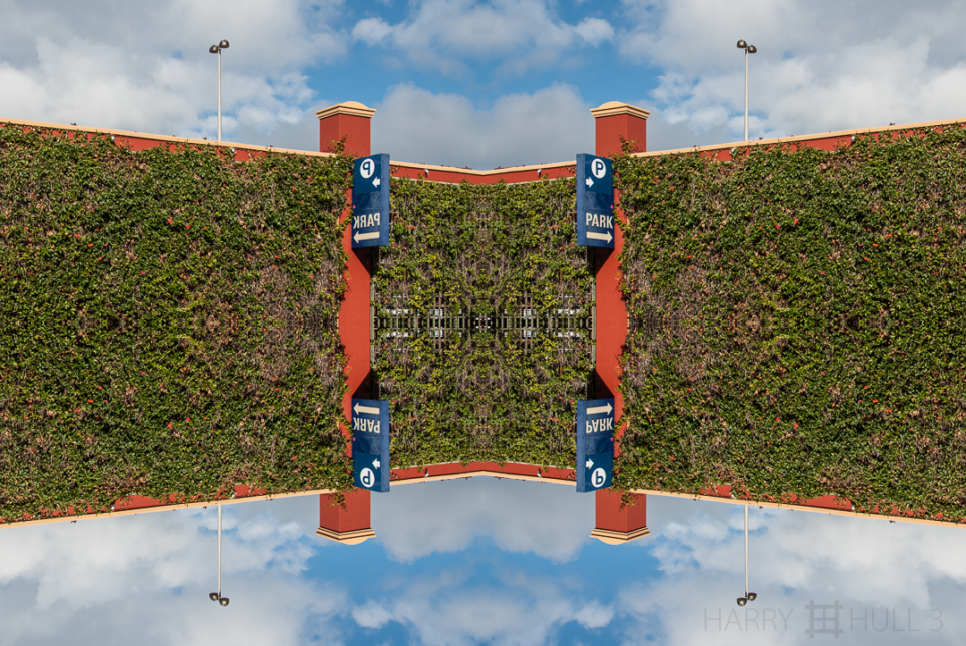Sky park. Photo of parking garage entrance, San Francisco, California.