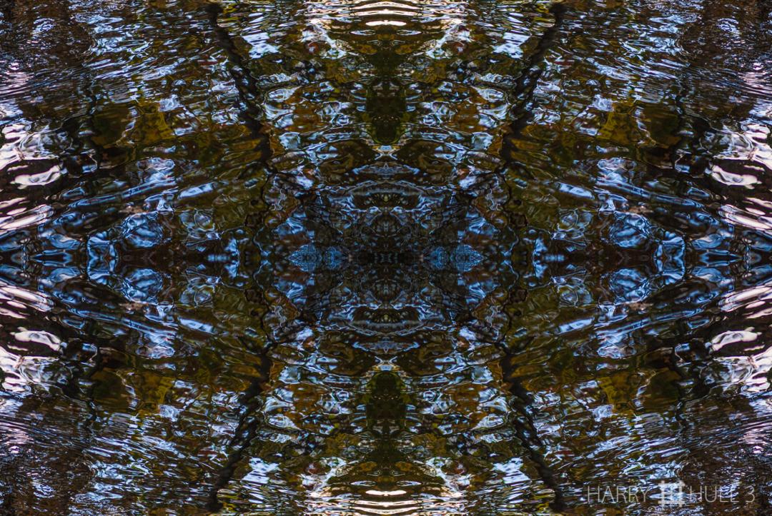 Liquid crystals: version 1. Photo of shallow stream near Clark Pond, Manchester, Massachusetts.