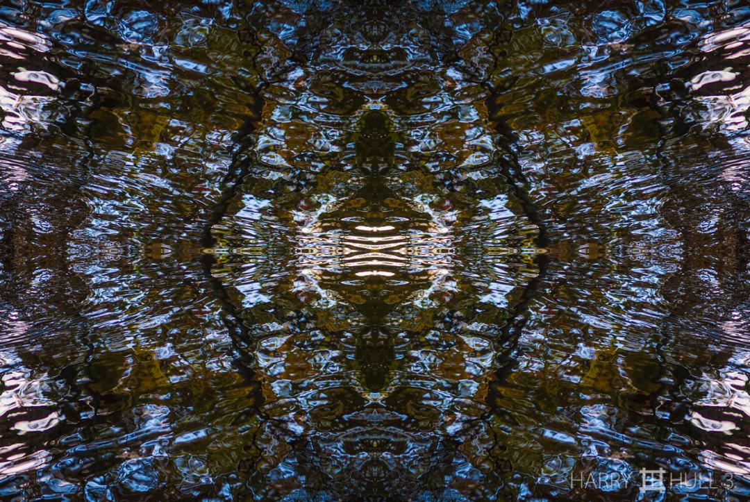 Liquid crystals: version 2. Photo of shallow stream near Clark Pond, Manchester, Massachusetts.