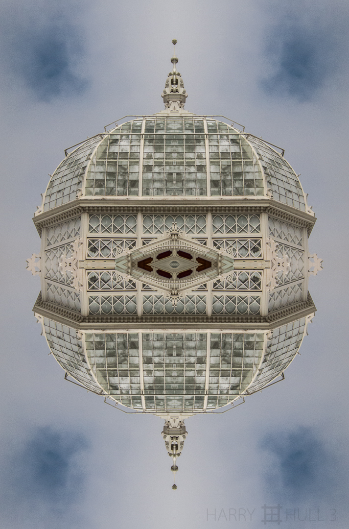 Victorian satellite? Photo of dome of the Conservatory of Flowers in Golden Gate Park, San Francisco, California.