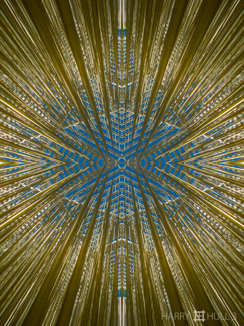 "Falling rays. Photo of hanging strands of sculpture/installation ""Penetrabile"" by Jesus Rafael Soto at the Los Angeles County Museum of Art, California."
