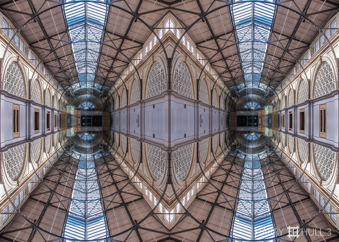 Air space. Photo of the atrium ceiling, Ferry Building, San Francisco, California.