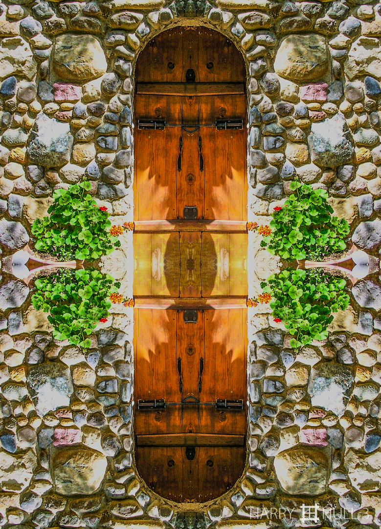 "Cellar door. Photo of door to wine storage ""cellar"", Green & Red Vineyard, Napa County, California."