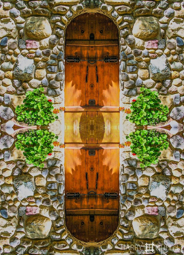 "Cellar door. Photo of door to wine storage ""cellar"", Green & Red Vineyard, Napa County, California."