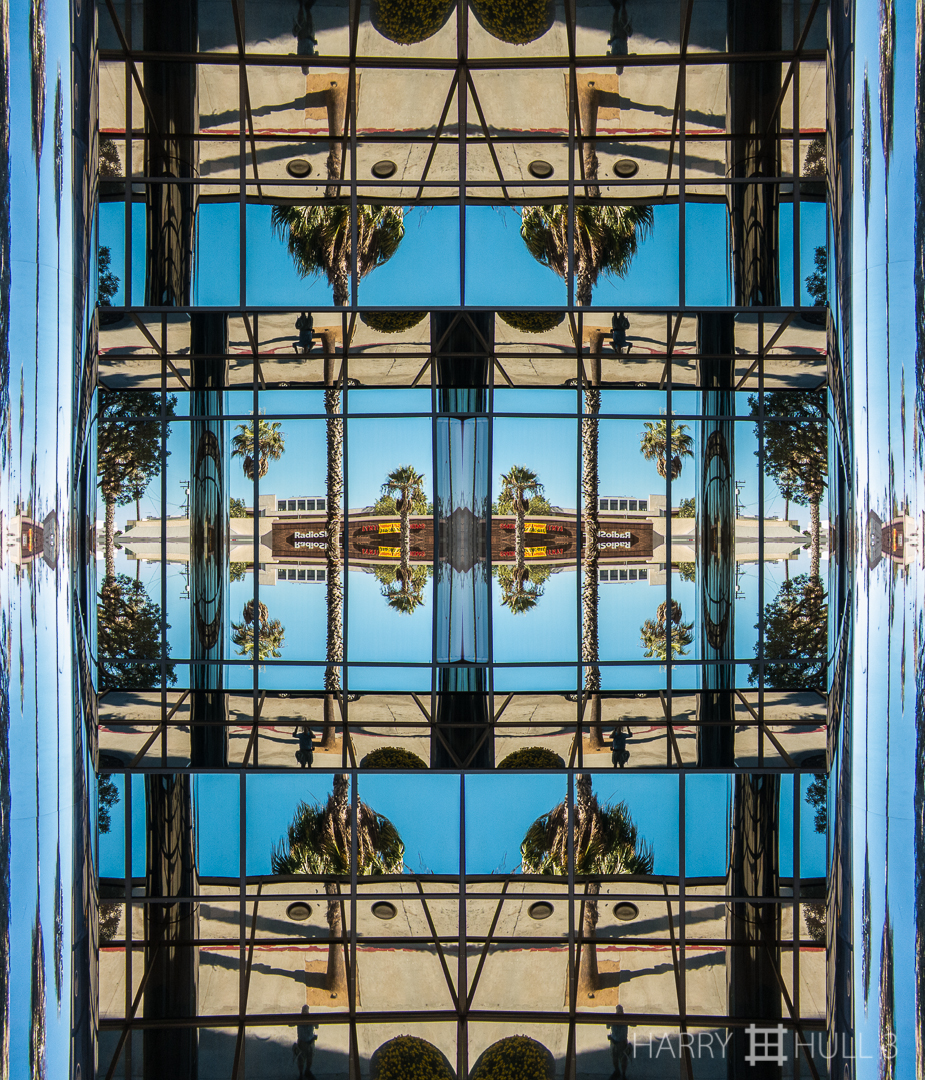L.A. reflections. Photo of reflective facade of an office building in Santa Monica, California (very near Los Angeles!).