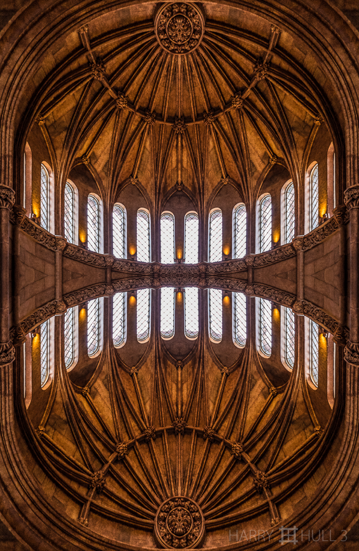 Bat chapel? Photo of the vaulted ceiling of the alcove at the end of the Commons, a room in the Smithsonian Castle, Smithsonian Institution, Washington DC.