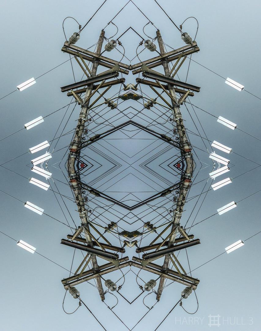 Roadside circuitry. Photo of power pole near San Vito, Costa Rica.